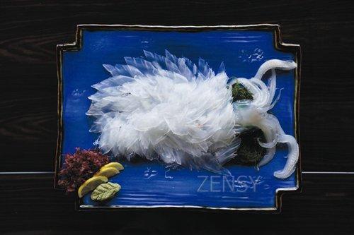 呼子乌贼——艺术品般的透明乌贼刺身