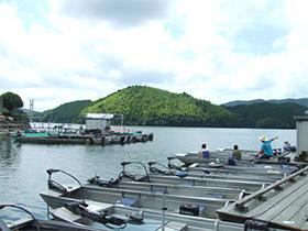 在三濑高原的DAMU湖边钓鱼